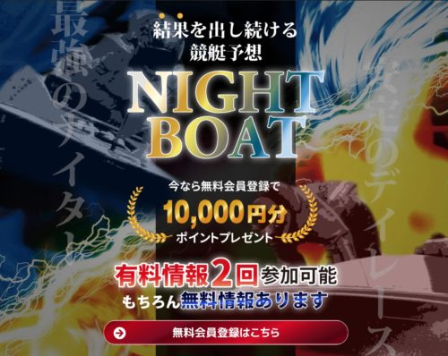 競艇予想サイトNIGHT BOAT(ナイトボート)の概要