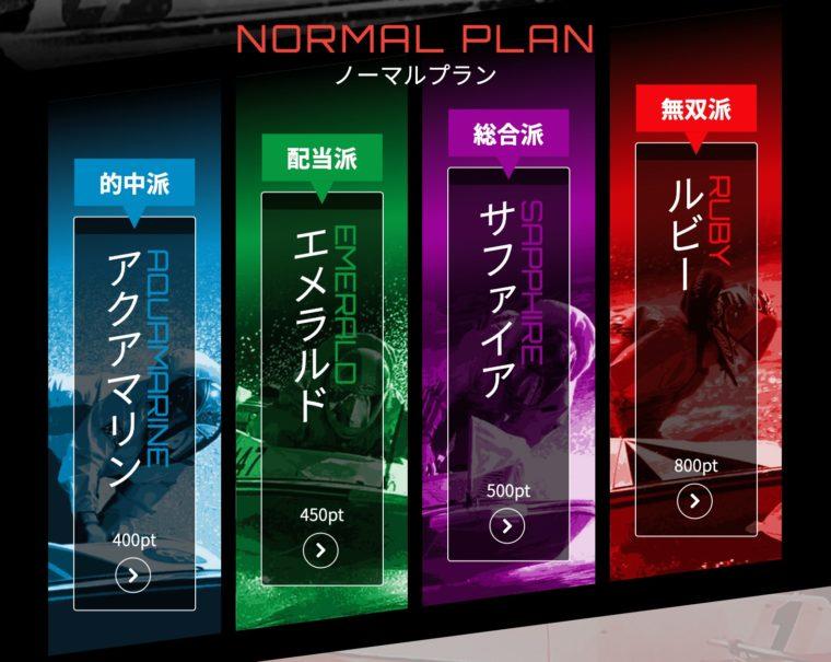 競艇ダイヤモンドのプラン別有料情報詳細 【ノーマルプラン】